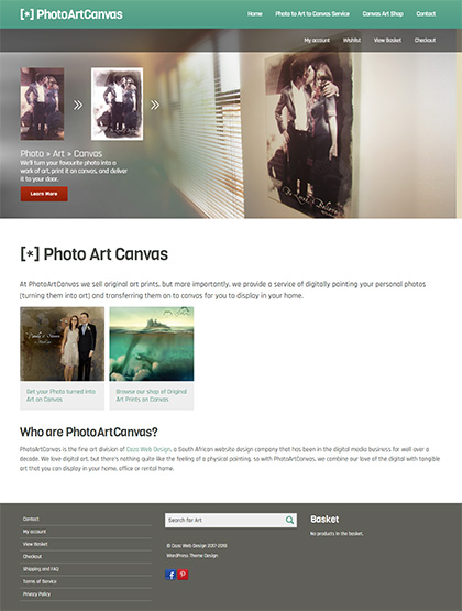 Photo to Art to Canvas Service